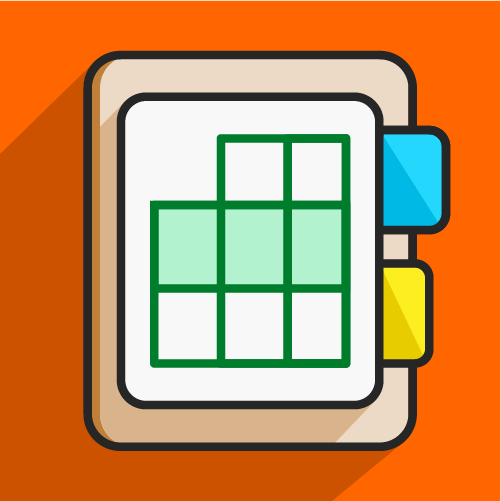 conceptual file folder and tabs icon